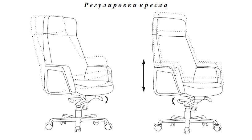 Кресло руководителя Бюрократ _ANTONIO/BLACK из натуральной кожи
