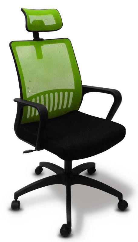 Кресло Бюрократ MC-201-H/SD/TW-11 спинка сетка салатовый TW-03A сиденье черный TW-11
