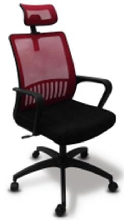 Кресло Бюрократ MC-201-H/CH/TW-11 спинка сетка фиолетовый, сиденье черный TW-11