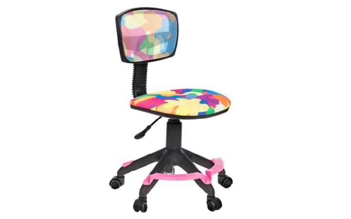 Кресло детское Бюрократ CH-299-F/ABSTRACT спинка сетка абстракция колеса розовый