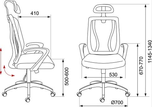 Кресло руководителя Бюрократ MC-411-H