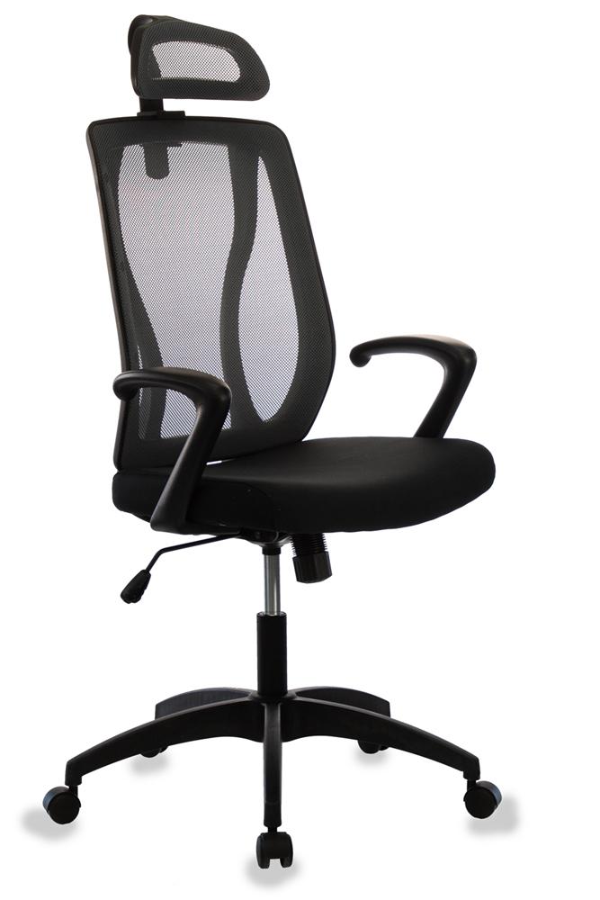 Кресло руководителя Бюрократ MC-411-H/26-28 черный TW-01 сиденье черный 26-25