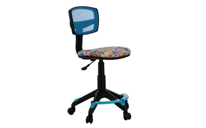 Кресло детское Бюрократ CH-299-F/LB/MARK-LB спинка сетка голубой марки колеса голубой