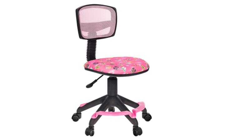Кресло детское Бюрократ CH-299-F/PK/FLIPFLOP_P спинка сетка розовый сланцы колеса розовый