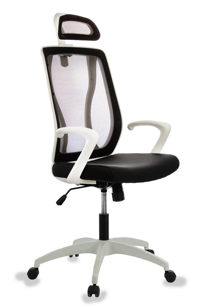 Кресло руководителя Бюрократ MC-W411-H/26-28 черный TW-01 сиденье черный 26-21 сетка/ткань (пластик белый)