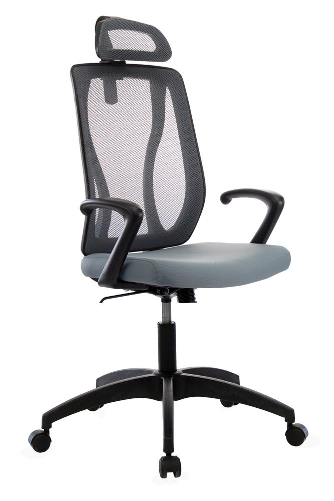 Кресло руководителя Бюрократ MC-411-H/DG/26-25 серый TW-04 сиденье серый 26-25