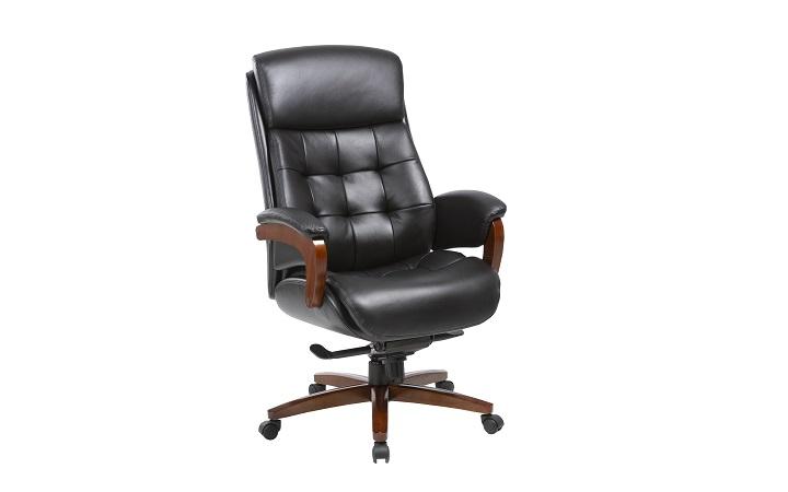 Кресло руководителя Бюрократ _MEGA/BLACK