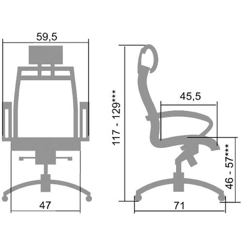 Кресло офисное SkyLine S-2 (K,Pl)
