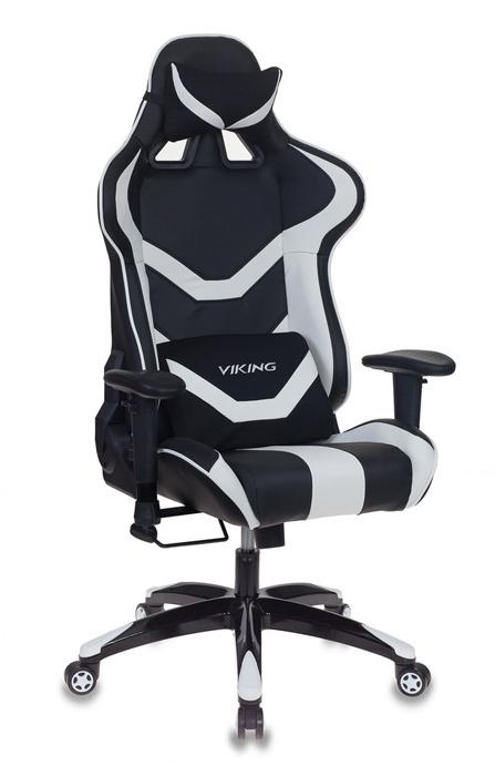 Кресло игровое Бюрократ CH-772N/BL+WHITE две подушки черный/белый искусственная кожа (пластик черный
