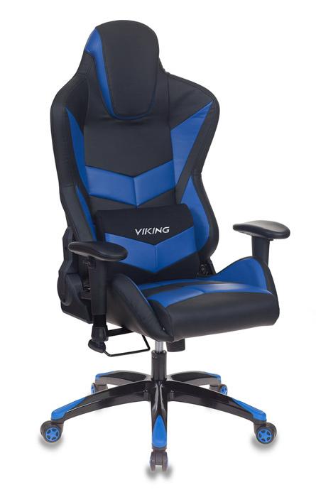 Кресло игровое Бюрократ CH-773N/BL+BLUE две подушки черный/синий искусственная кожа