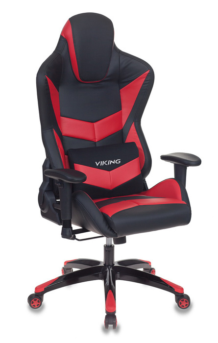Кресло игровое Бюрократ CH-773N/BL+RED две подушки черный/красный искусственная кожа