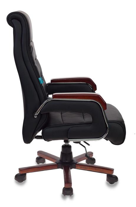 Кресло руководителя Бюрократ T-9909WALNUT/BLACK