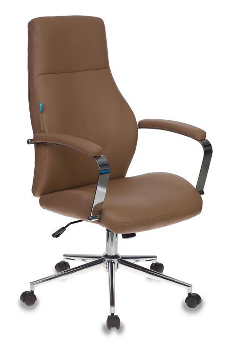 Кресло руководителя Бюрократ T-703SL/CAMEL светло-коричневый искусственная кожа крестовина хром