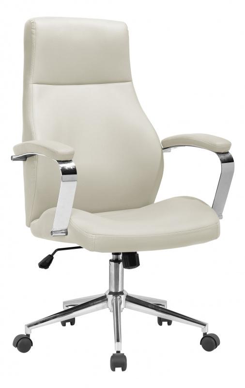 Кресло руководителя Бюрократ T-703SL/MILK молочный искусственная кожа крестовина хром
