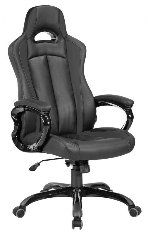 Кресло игровое Бюрократ CH-827/BL+BLACK черный искусственная кожа