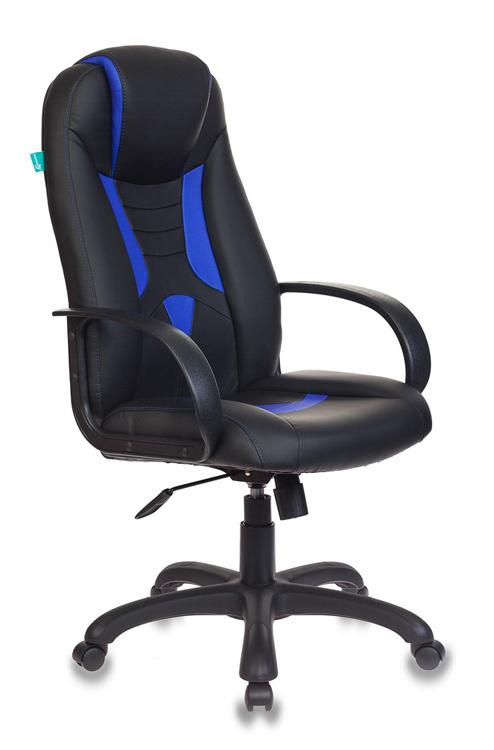 Кресло игровое Бюрократ VIKING-8/BL+BLUE черный/синий искусственная кожа