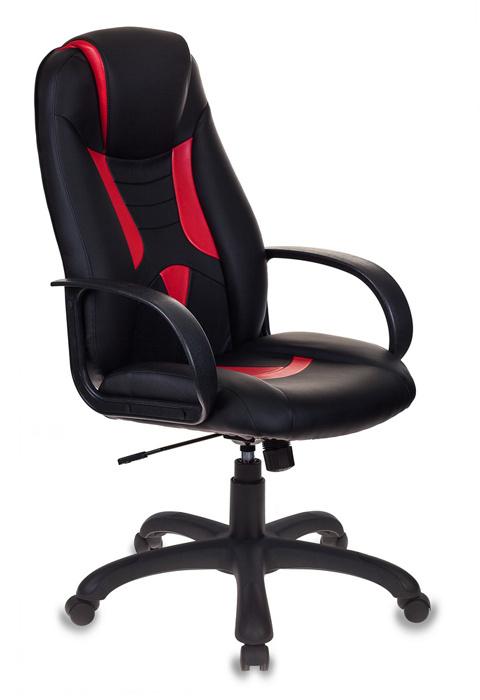 Кресло игровое Бюрократ VIKING-8/BL+RED черный/красный искусственная кожа