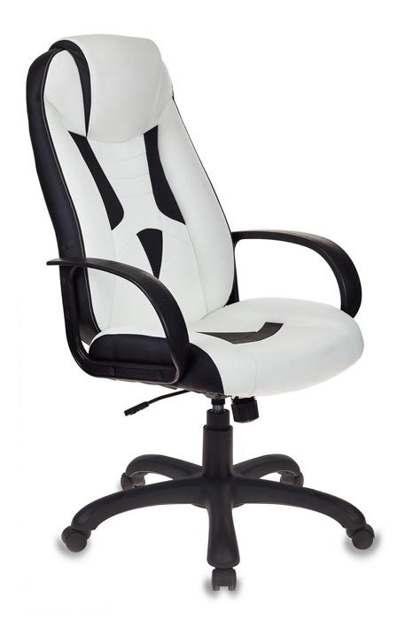 Кресло игровое Бюрократ VIKING-8/WH+BLACK белый/черный искусственная кожа