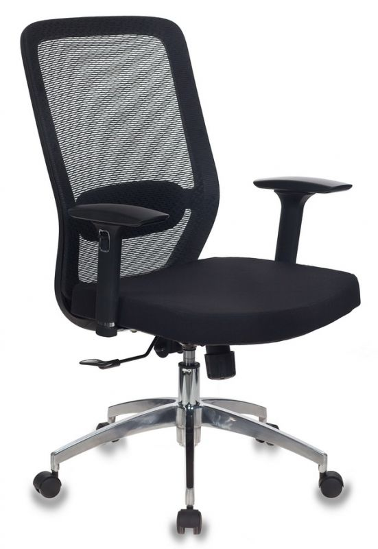 Кресло Бюрократ MC-715/B/26-B01 черный BM-11 26-В01 сетка/ткань крестовина алюминий