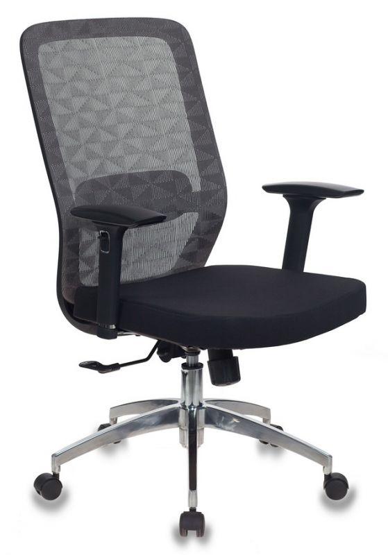 Кресло Бюрократ MC-715/KF-4/26-B01 серый KF-4 сиденье черный сетка/ткань крестовина алюминий
