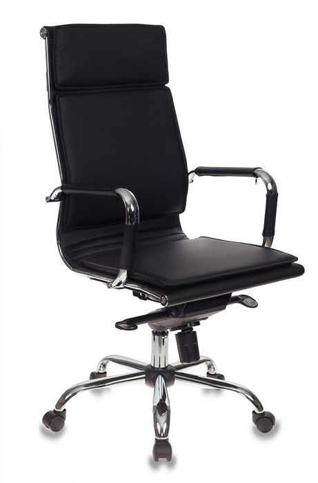 Кресло руководителя Бюрократ СН-993MB/BLACK черный искусственная кожа крестовина хром