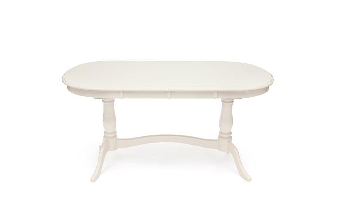 Стол белый обеденный раскладной Сиена Siena SA-T6EX2L