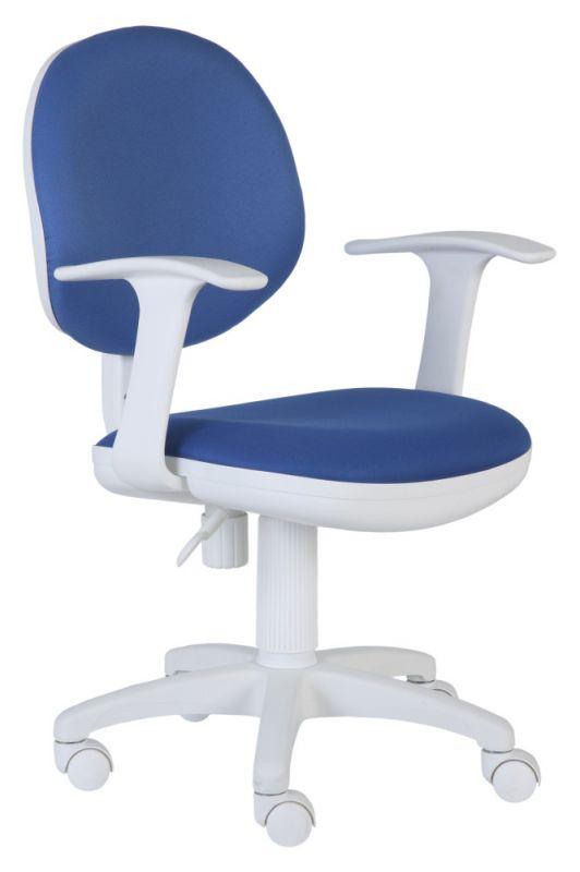 Кресло детское Бюрократ CH-W356AXSN/15-10 темно-синий 15-10 колеса белый/синий (пластик белый)