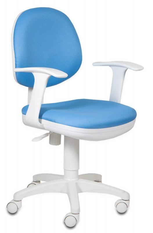 Кресло детское Бюрократ CH-W356AXSN/15-107 голубой 15-107 (пластик белый)