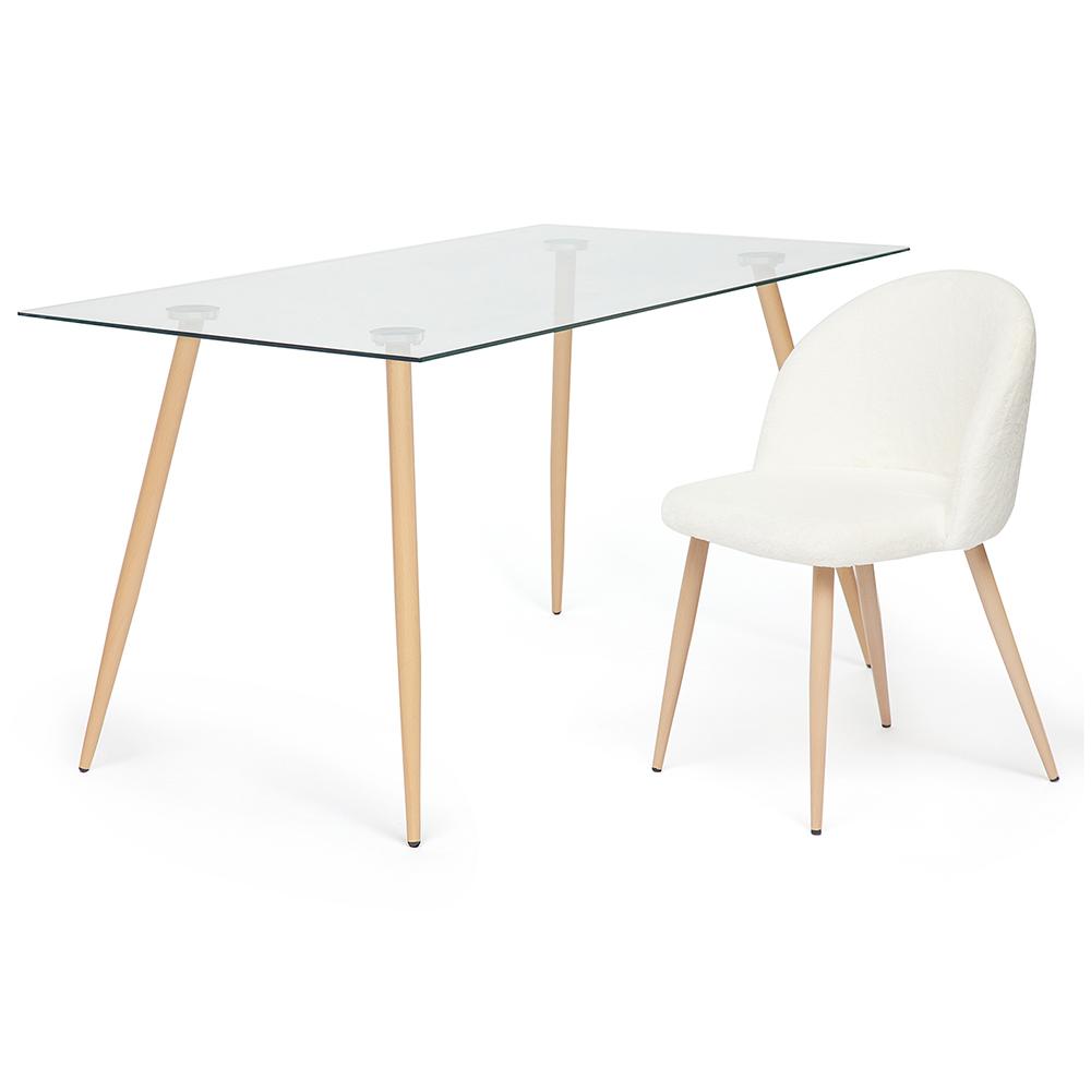 Стол со стеклянной столешницей Sophia 7003
