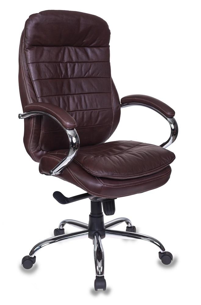 Кресло руководителя Бюрократ T-9950AXSN/BROWN-PU сиденье коричневый искусственная кожа крестовина хром