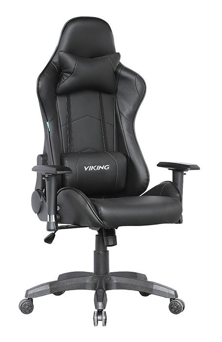 Кресло игровое Бюрократ CH-778/BLACK две подушки черный искусственная кожа