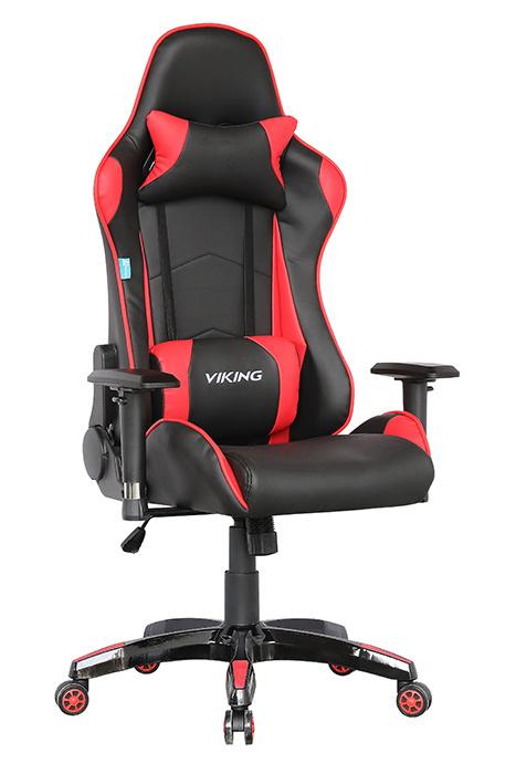 Кресло игровое Бюрократ CH-778/BL+RED две подушки черный/красный искусственная кожа