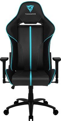 Игровое кресло ThunderX3 BC5 BC - черное с отделкой голубая лагуна