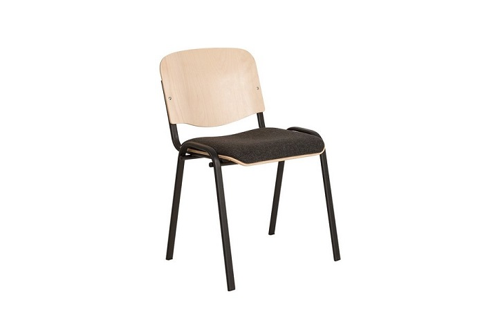Стулья для посетителей ISO wood plus combi black