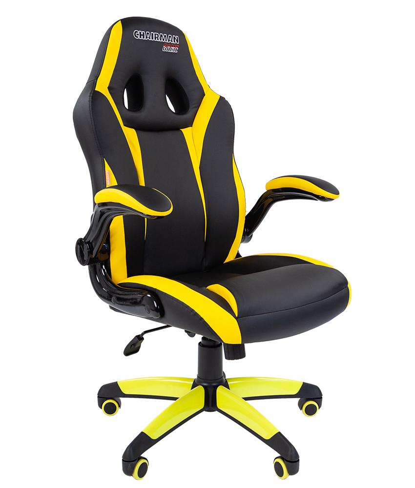 Кресло геймерское CHAIRMAN GAME 15 7028512 черный/желтый