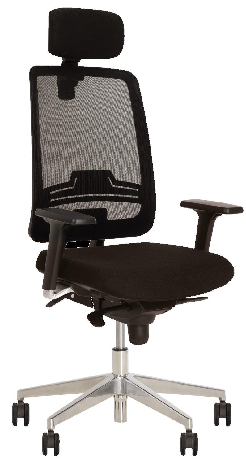 Кресло для персонала ABSOLUTE R HR net black WA ES AL70