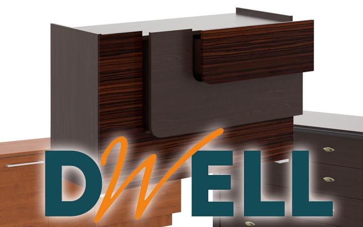 Системы хранения DWELL - комоды большие и маленькие