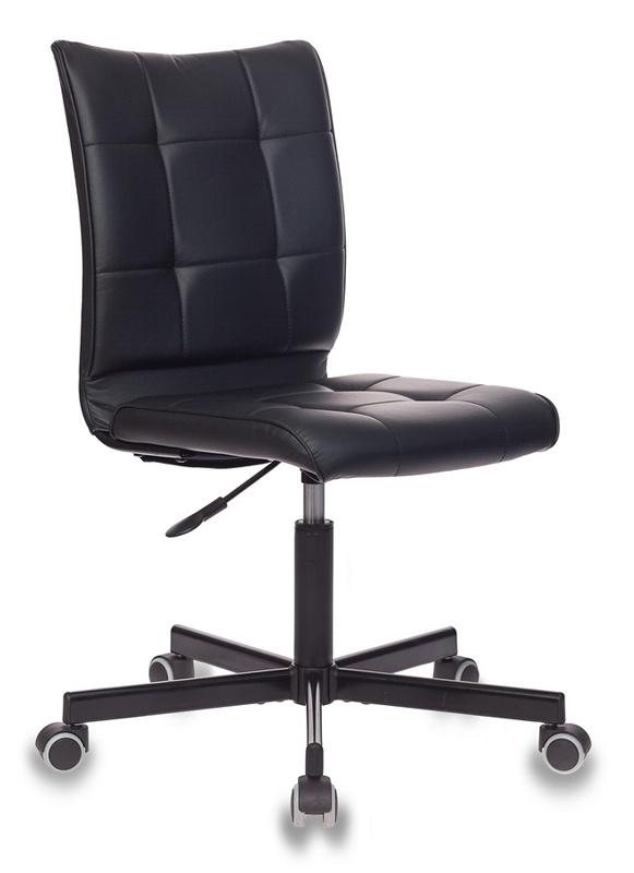 Кресло Бюрократ CH-330M/BLACK без подлокотников черный искусственная кожа крестовина металл