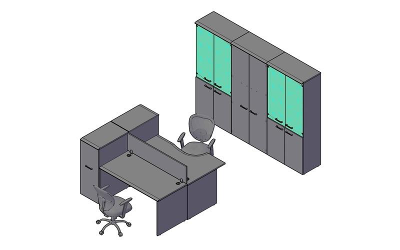 Комплект оперативной мебели WAVE 1
