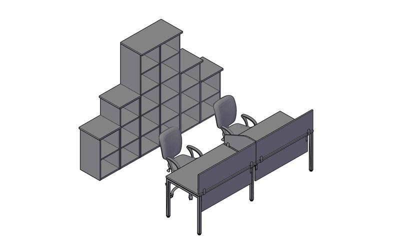 Комплект оперативной мебели XTEN-S 1