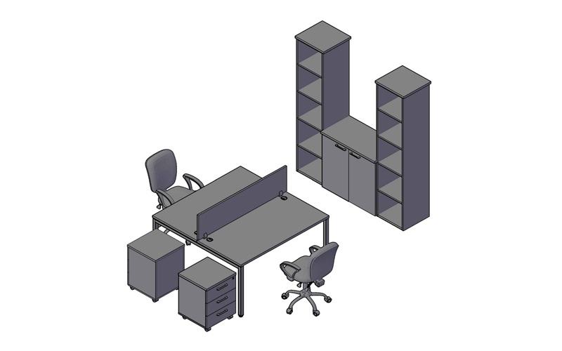 Комплект оперативной мебели XTEN-S 2