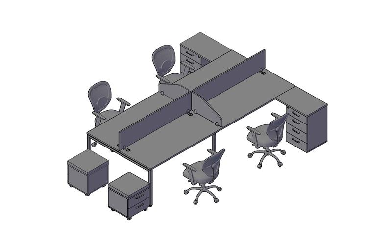 Комплект оперативной мебели XTEN-S 3