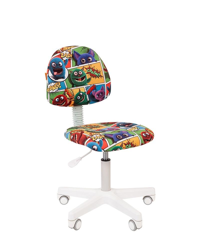 Кресло для детских комнат CHAIRMAN KIDS 104 Ткань велюр с рисунком монстры