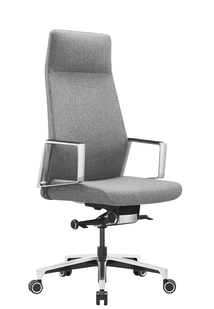 Кресло руководителя Бюрократ _JONS/CASHGREY серый крестовина алюминий ткань кашемир