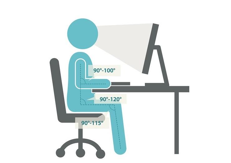 как правильно сидеть за компьютером чтобы не болела спина и шея
