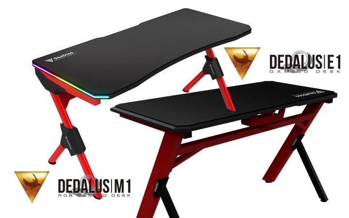 DEDALUS M1 с подсветкой и DEDALUS E1 - Gamdias представляет два новых стола