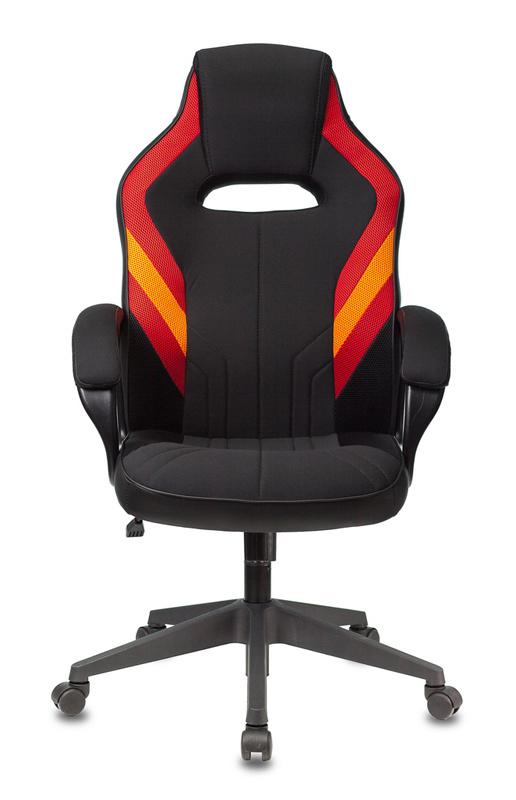 Кресло игровое Бюрократ VIKING 3 AERO RED черный/красный искусственная кожа