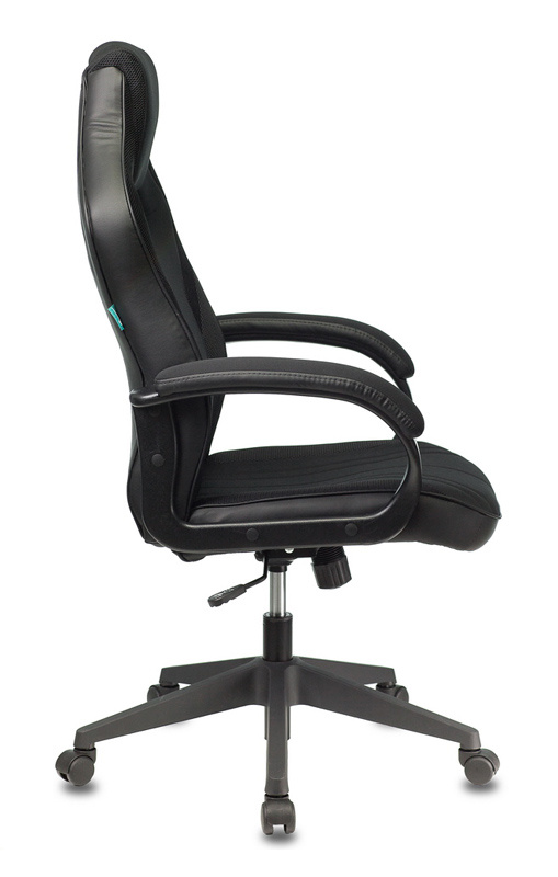 Кресло игровое Бюрократ VIKING 3 AERO BLACK EDITION черный искусст.кожа/ткань