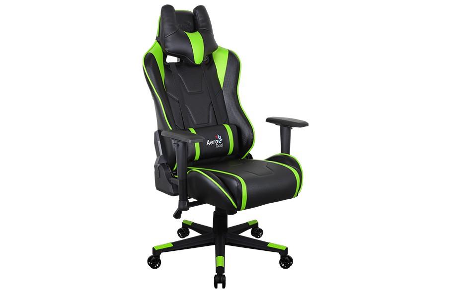Игровое кресло Aerocool AC220 AIR - Зеленый green