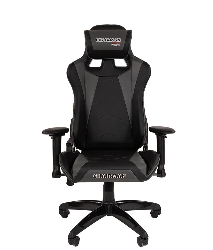 Кресло геймерское CHAIRMAN GAME 44 черный/серый